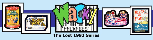 Wacky Packages 1992 Lost Series logo