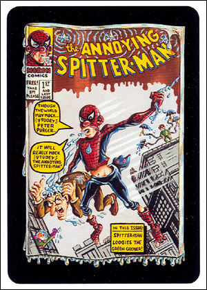 'The Annoying Spitter-Man' Card Front